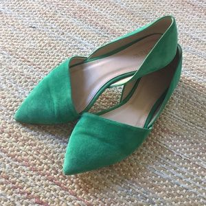 J.Crew Kelly Green Pointy Toe Flats - Size 7
